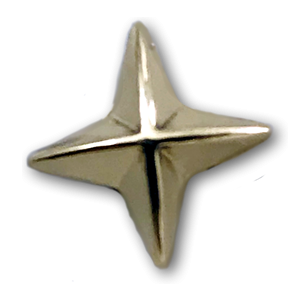 Gold 4 Point Star