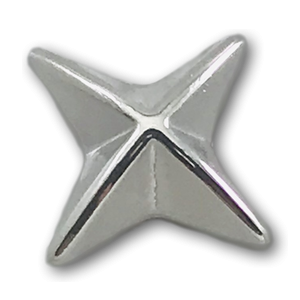 Silver 4 Point Star