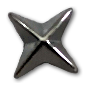 Chrome 4 Point Star