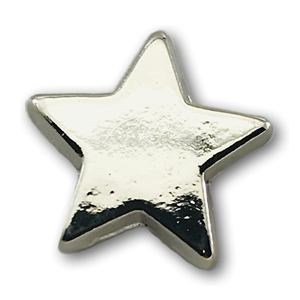 Chrome Flat Star