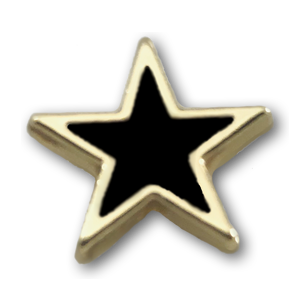 Gold & Black Star