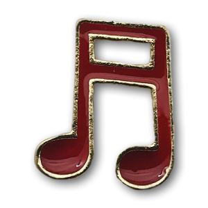Red Notes Charm