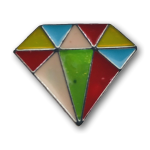 Multicolor Diamond Charm