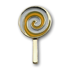 Yellow Lollypop Charm