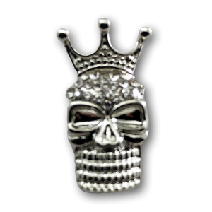 Silver Mask Crown Charm