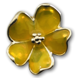 Yellow Clover Charm