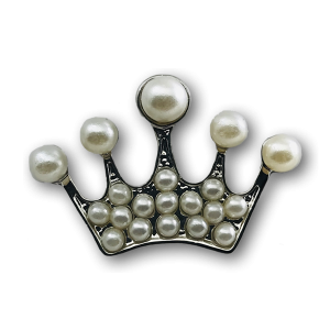 Silver Crown Peals Charm