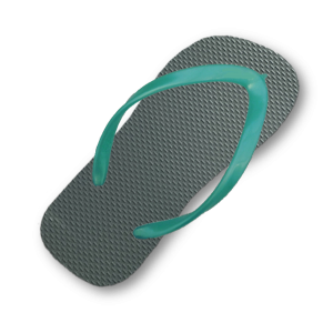 green-grey-flip-flop-thin-turquoise-strap