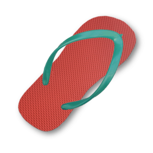 red-flip-flop-thin-turquoise-strap